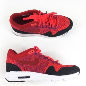 a1b78cd62d57 Nike Shoes - NIKE Air Max 1 Ultra Flyknit university Red Black
